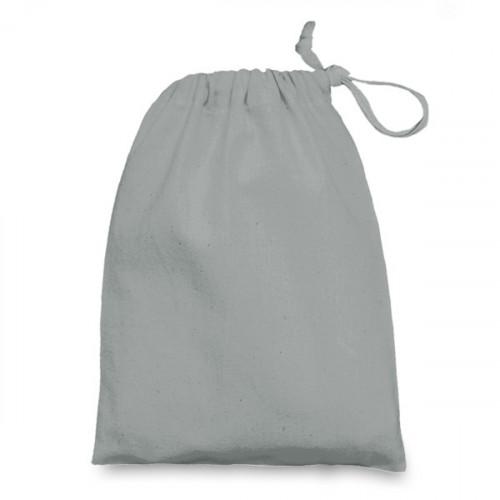 Grey cotton Drawstring Bag 15x20cm