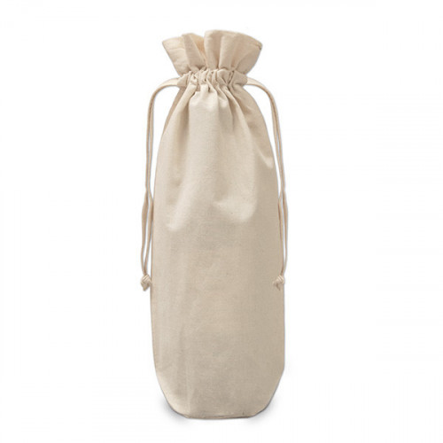 Natural cotton Drawstring Bottle Gift Bag 17x37cm