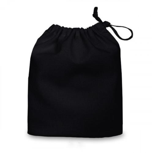 Black cotton Drawstring Bag 20x24cm