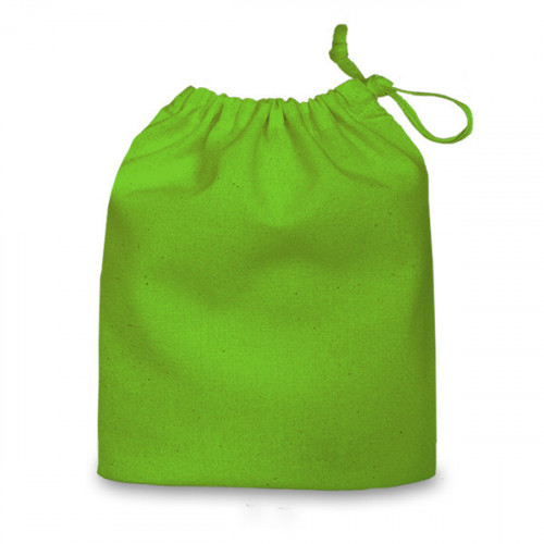 Green cotton Drawstring Bag 20x24cm