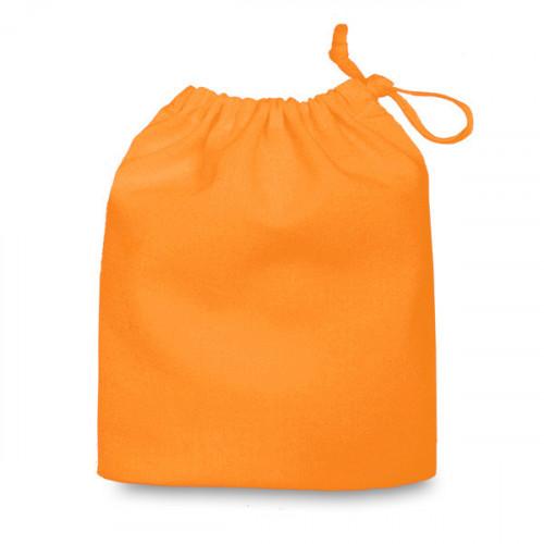 Orange cotton Drawstring Bag 20x24cm