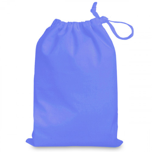 Cornflower cotton Drawstring Bag 25 x 35cm