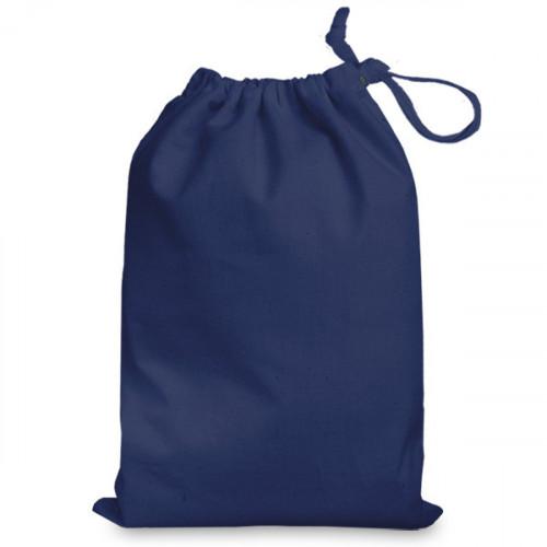 Navy cotton Drawstring Bag 25x35cm