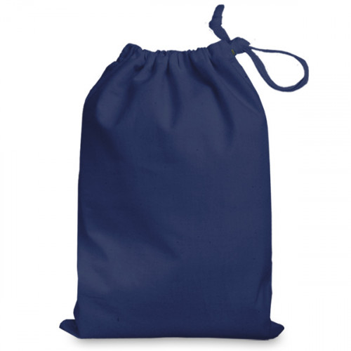 Navy cotton Drawstring Bag 25x35cm