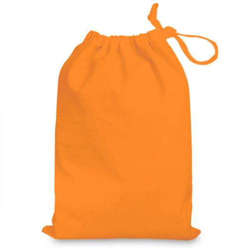 Orange cotton Drawstring Bag 25x35cm