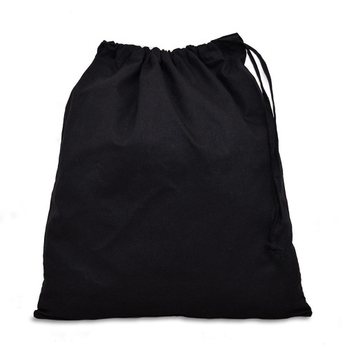 Value Black cotton Drawstring bag 38x43cm