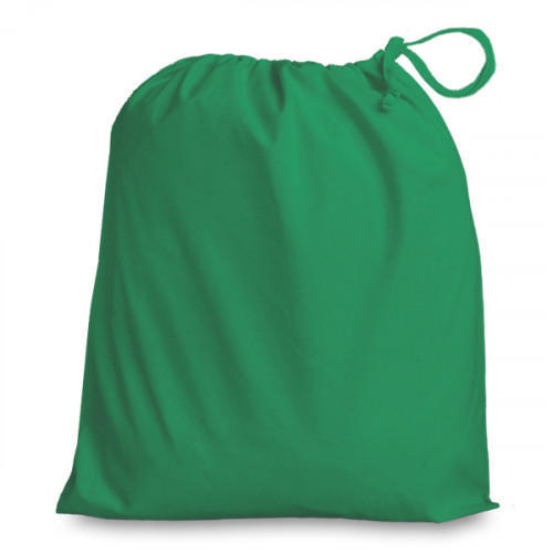 Emerald cotton Drawstring Bag 38 x 43cm