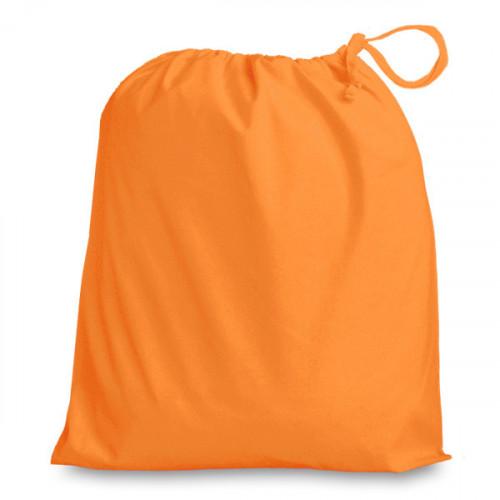 Orange cotton Drawstring Bag 38x43cm