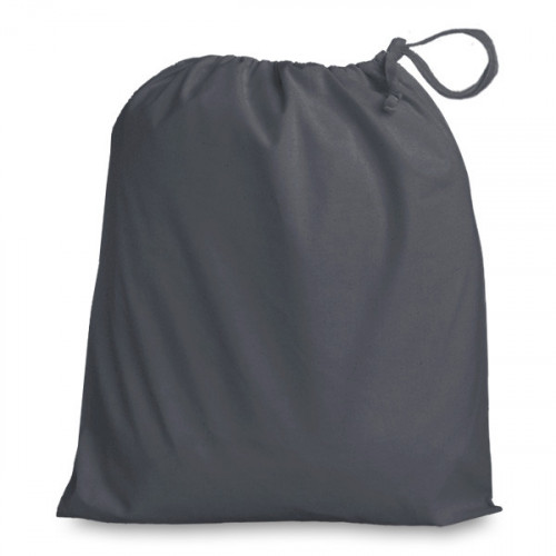 Slate Grey Drawstring Bag 38x43cm