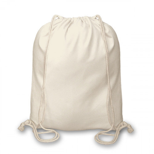 Natural canvas 8oz Drawstring Duffel Bag 40x45cm