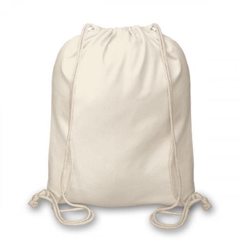 Natural canvas 8oz Drawstring Duffel Bag 40x45cm
