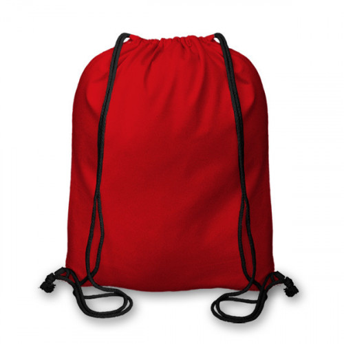 Red cotton Drawstring Duffel Bag 40x45cm