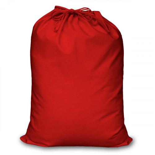 Red cotton Double Drawstring Sack 60x76cm