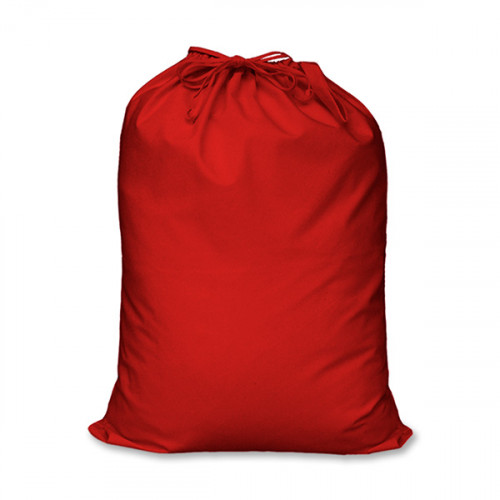 Red cotton large Drawstring Sack 46x60cm