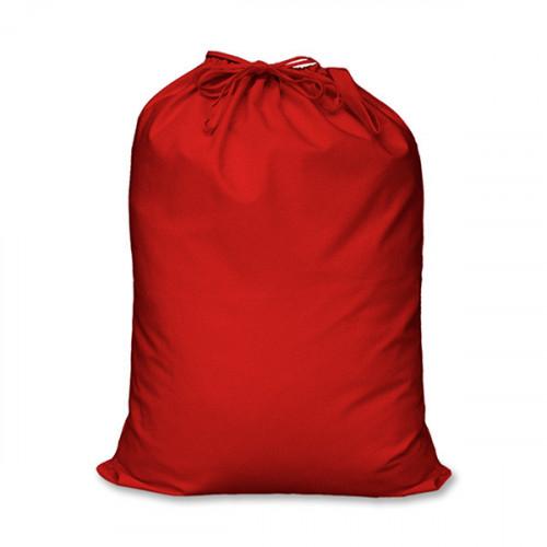 Red cotton large Drawstring Sack 46x60cm