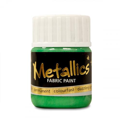Green Metallic Fabric Paint