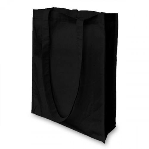Black canvas 8oz small Shopper 32x36x10cm Long Handles&Gusset