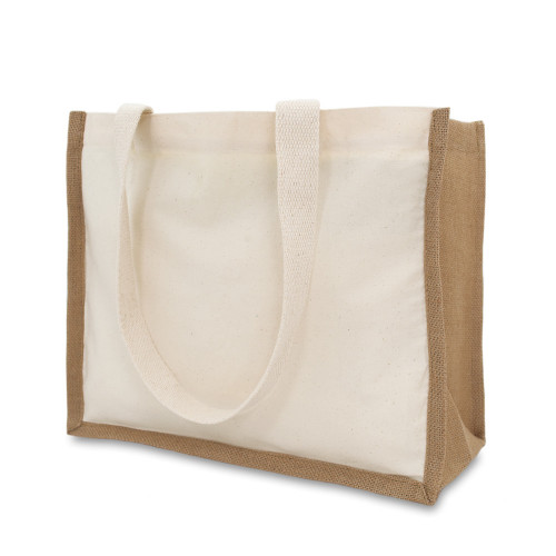 Natural Canvas 8oz & Starched Jute Shopper 37x30x15cm