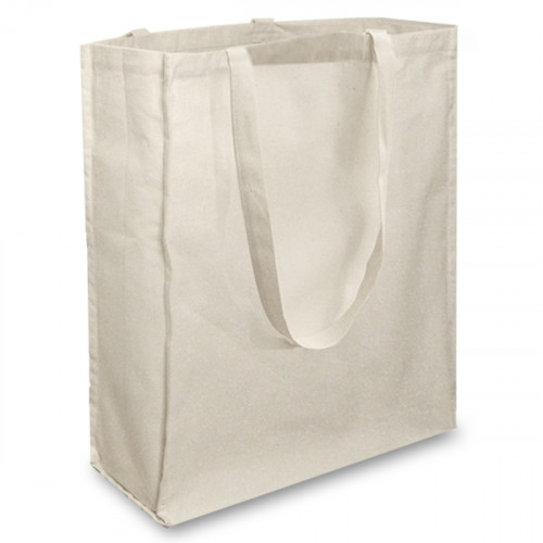 Natural Cotton Shopper with Long Handles and A Gusset