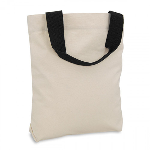 Natural canvas 8oz Shopper 40x40cm Black webbing handles & inner zip pocket. Base 10cm