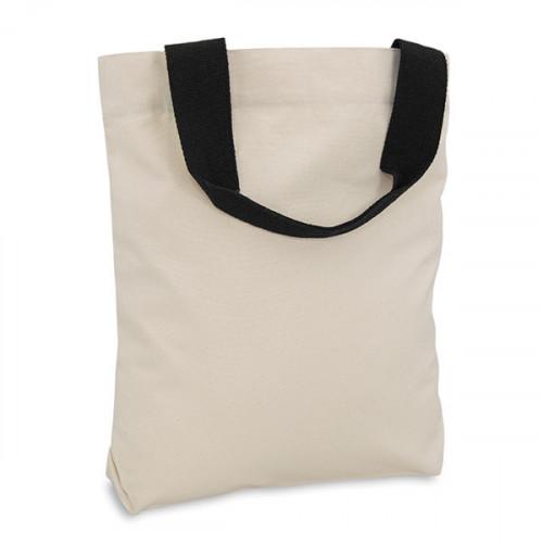 Natural canvas 8oz Shopper 40x40cm Black webbing handles & inner zip pocket. Base 10cm