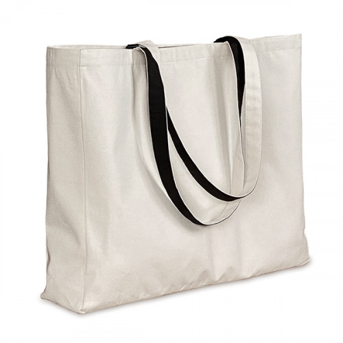 Natural canvas 8oz Shopper 43x38x10cm with Black Lining