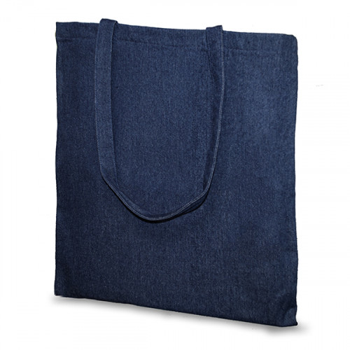 Indigo Denim cotton Carrier 38x43cm Long Handles