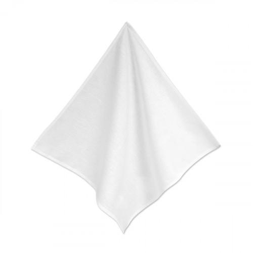 White linen/cotton Napkin 48x48cm - hanging from one corner