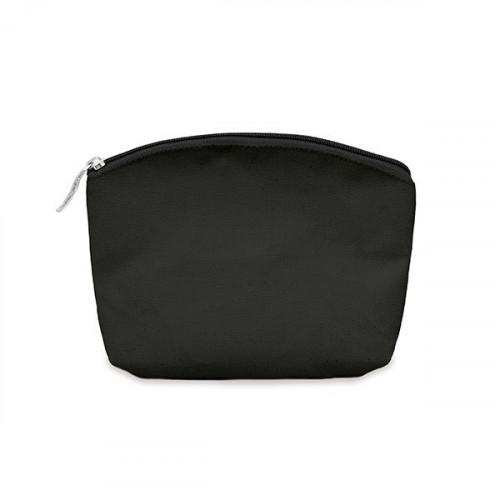Black canvas 8oz purse/pouch 17x14cm