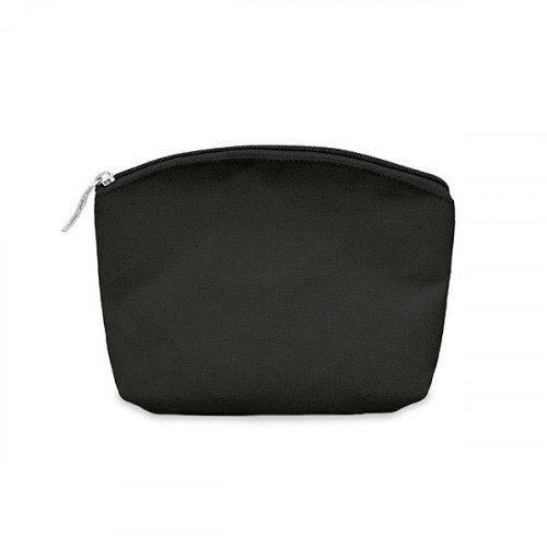 Black canvas 8oz purse/pouch 17x14cm