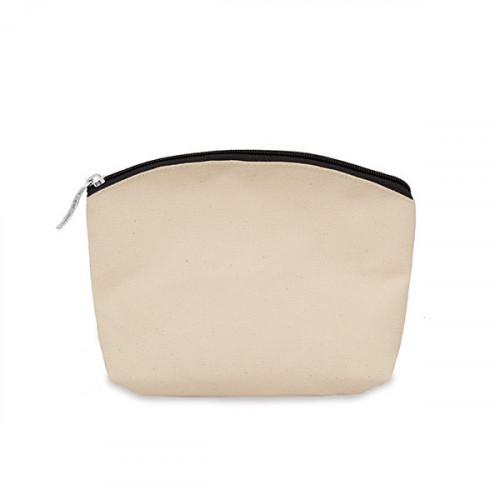 Natural canvas 8oz purse/pouch 17x14cm with black zip
