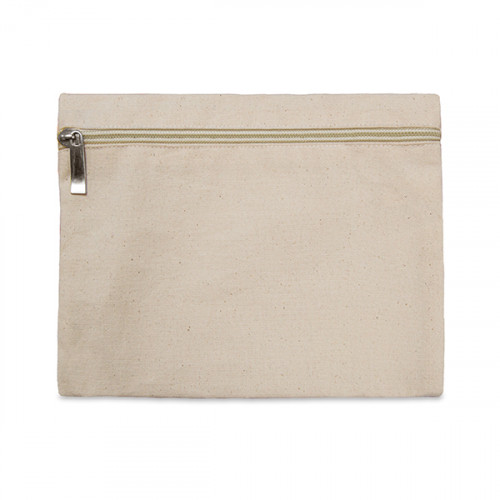 Natural canvas 8oz pencil case/make-up bag 21x16cm with Natural zip