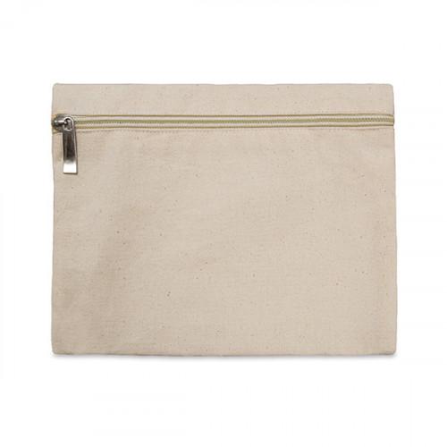 Natural canvas 8oz pencil case/make-up bag 21x16cm with Natural zip