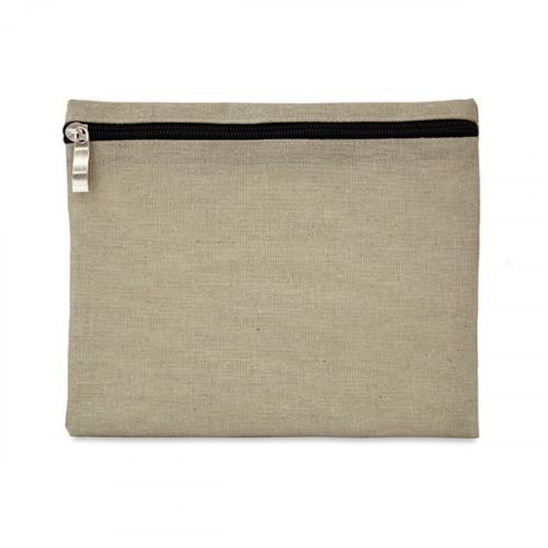 Natural hemp/cotton pencil case/make-up pouch 21x16cm
