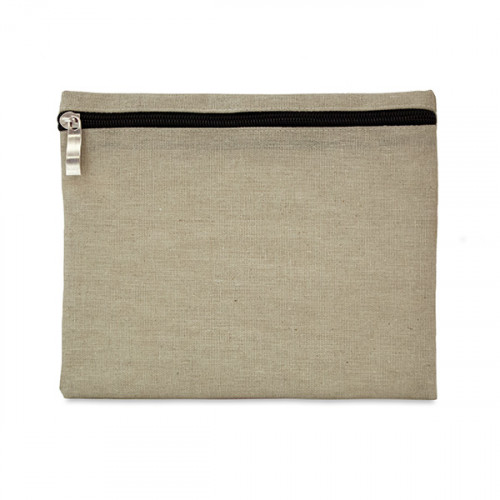 Natural hemp/cotton pencil case/make-up pouch 21x16cm