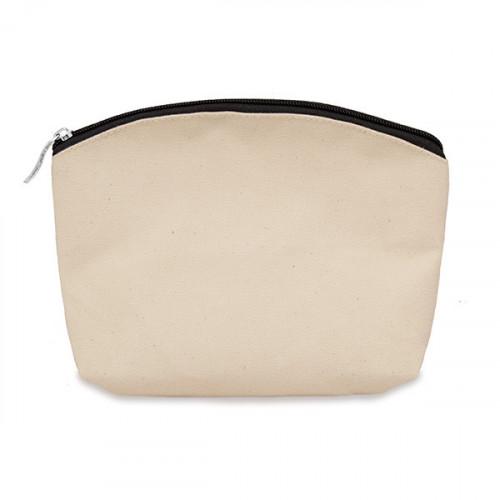 Natural canvas 8oz purse/pouch 24x20cm with black zip