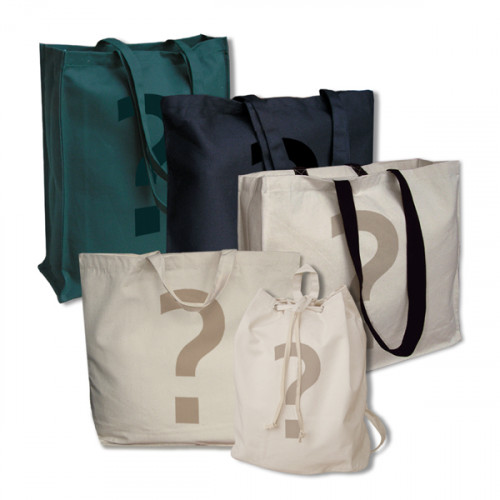10 Printed Factory Seconds Canvas Bags
