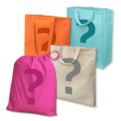 25 Printed Factory Seconds Large Cotton Bags