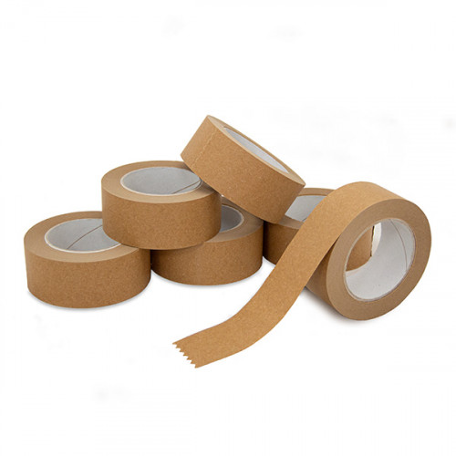 Pack of 6 Rolls Kraft Paper Tape 48mm wide, 50m per roll