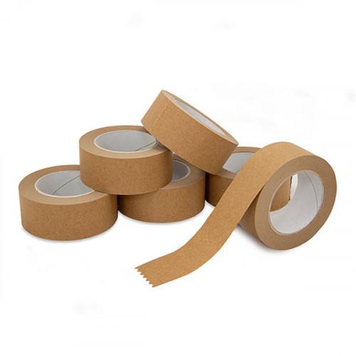 Pack of 6 Rolls Kraft Paper Tape 48mm wide, 50m per roll