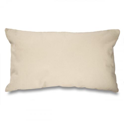 Seconds Natural canvas 8oz Cushion Cover 51x30cm, Faulty zip