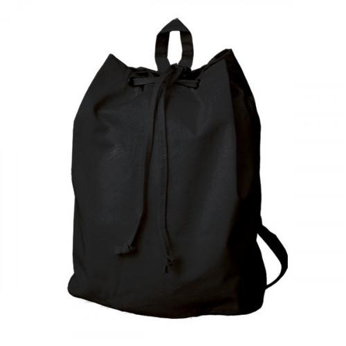 Black canvas 8oz Rucksack/Back Pack 30x40x15cm- front