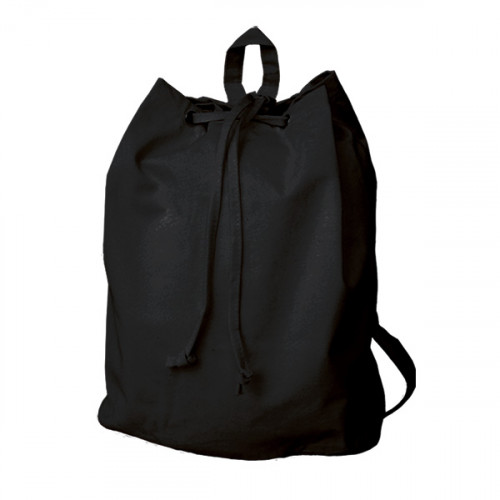 Black canvas 8oz Rucksack/Back Pack 30x40x15cm- front