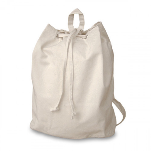Natural canvas 8oz Rucksack/Back Pack 30x40x15cm- front