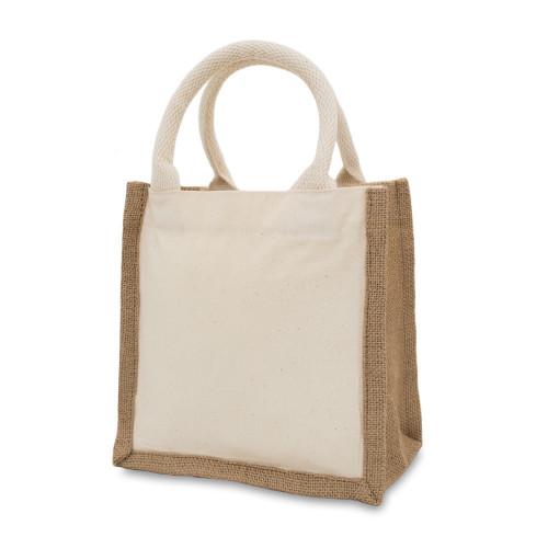 Natural Canvas 8oz & Starched Jute Gift Bag 20x20x12cm