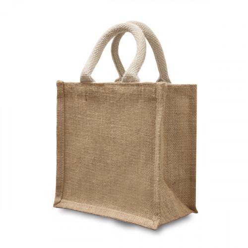 Natural Jute Gift Bag 20x20x12cm