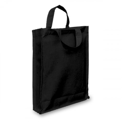 Black Cotton Goody Bags with Gusset