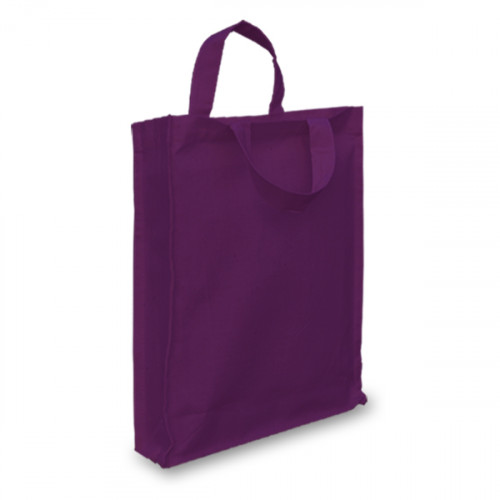 Mauve Cotton Goody Bag with Gusset