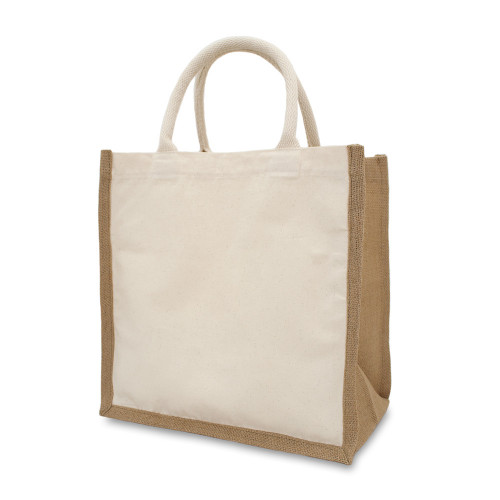 Natural Canvas 8oz & Starched Jute Box Bag 32x32x20cm