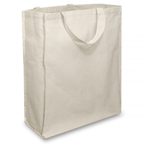Natural Cotton Shopper with Short Handles And A Gusset